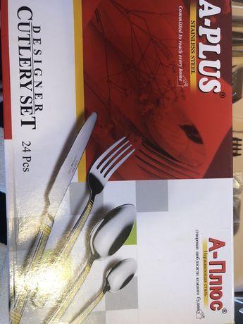 Набор столовых приблров 24 шт новый