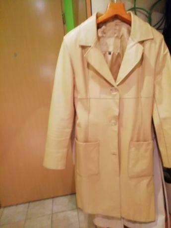 Płaszcz skórzany kurtka skórzana futerko
