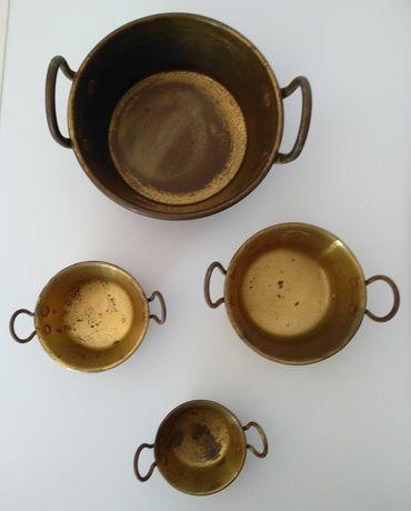 Conjunto de tachos em cobre