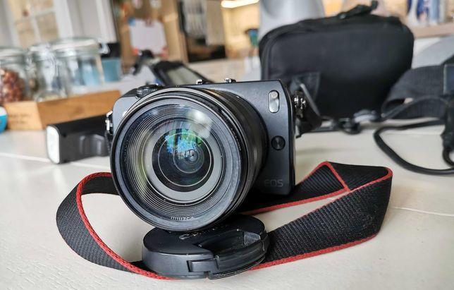 Aparat Canon EOS M + Obiektyw 18-55 mm f/3,5-5,6 IS STM (czarny)