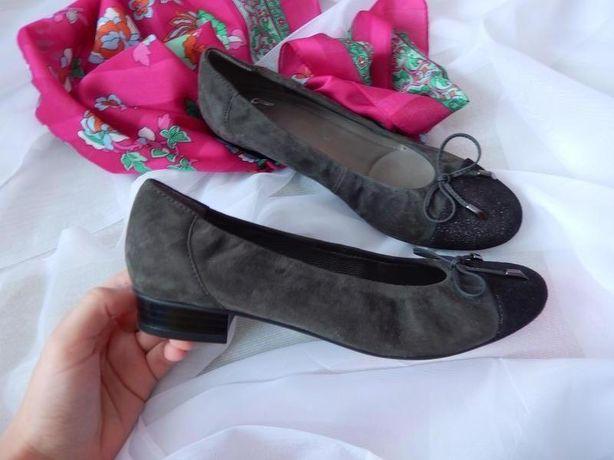 Туфли цвет хаки на небольшом каблуке Ara
