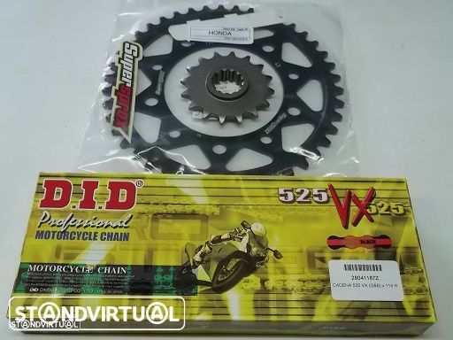 Kit Transmissao com corr. DID VX X-Ring Honda CBF 600 N/S de 2008 a 2012