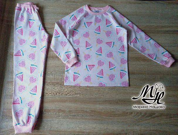 Пижамы мягкие с начесом и без