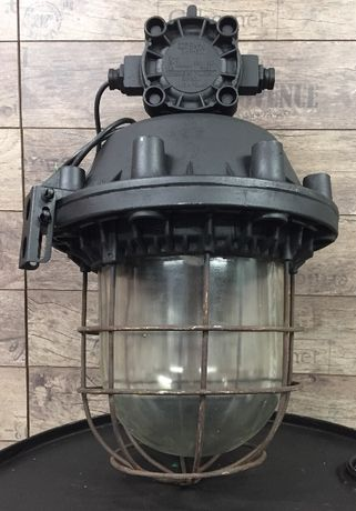 Lampa przemysłowa prl loft garaż magazyn żyrandol