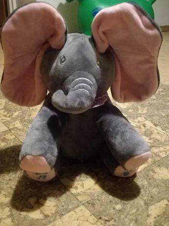 Zabawka grająca, słoń grający, słoń ruszający uszami