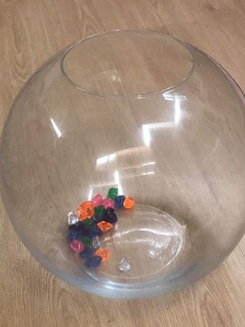 Aquario de vidro pequeno