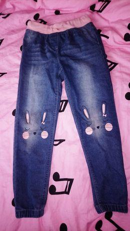 jeansy gumka 128 girls
