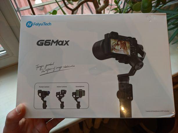 Крутой универсальный 3х осевой  стабилизатор FeiyuTech G6 MAX