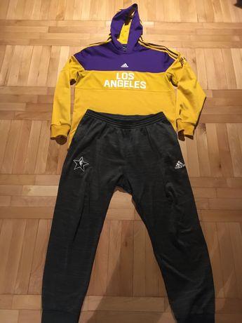 Spodnie dresowe  + bluza  Adidas NBA Lakers roz. L! Z 799 na 199 zł!