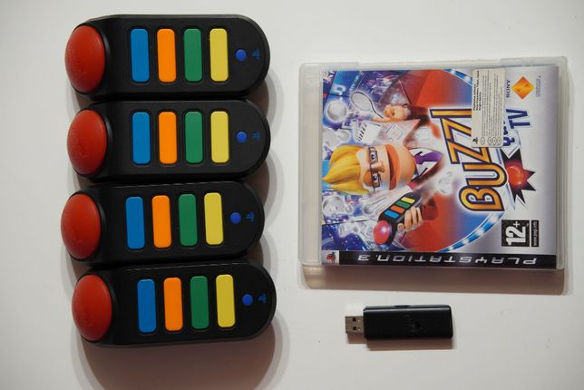 Buzz Quiz TV Gra + 4 buzzery bezprzewodowe PS3