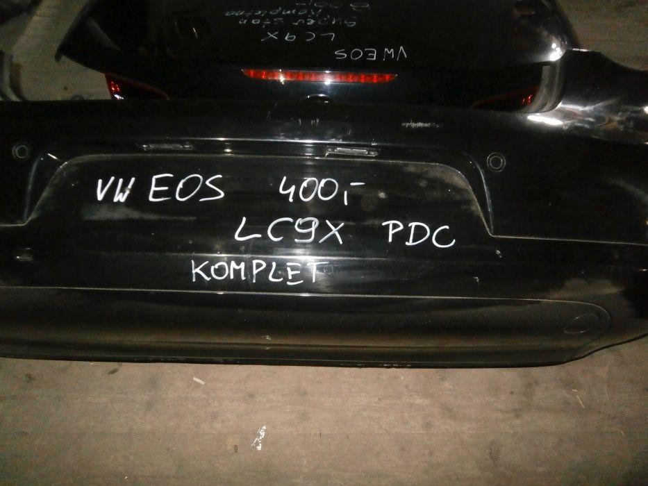 vw EOS zderzak tylni czarny LC9X PDC parktroniki kompletny Wołów - image 1
