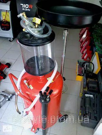 Вакуумная установка для замены масла Kraft 80 л для СТО