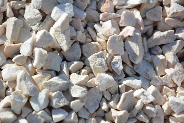 BIAŁA MARIANNA - biały grys marmurowy kamień ogrodowy - transport ŁÓDŹ