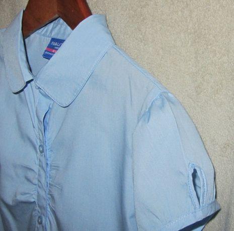 Рубашка блузка школьная для девочки короткий США 146 152 158