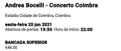 Concerto Andrea Bocelli