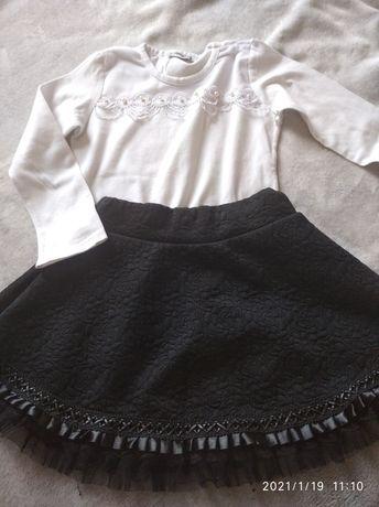 Ubranka galowe 110/116 spódniczka bluzki