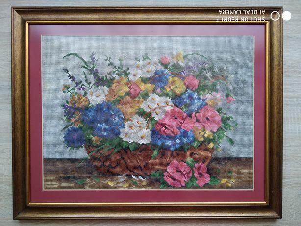 Kwiaty  - obraz haft idealny na prezent