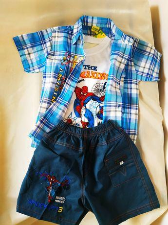 Новый костюм тройка для мальчика spiderman