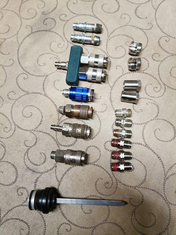 Várias peças de ar comprimido