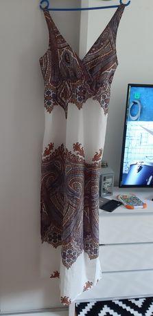 Sukienka długa maxi M Reserved boho