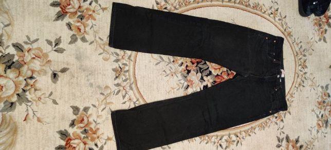 spodnie jeans czarne Levis 501 guziki stan bardzo dobry