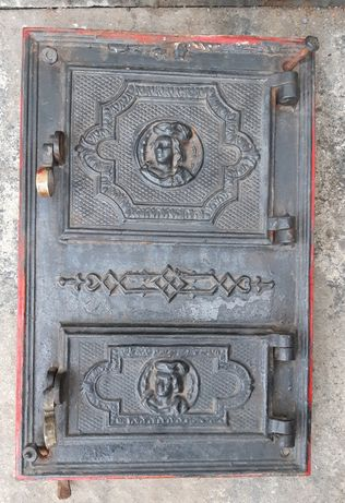Zabytkowe drzwiczki do pieca kaflowego