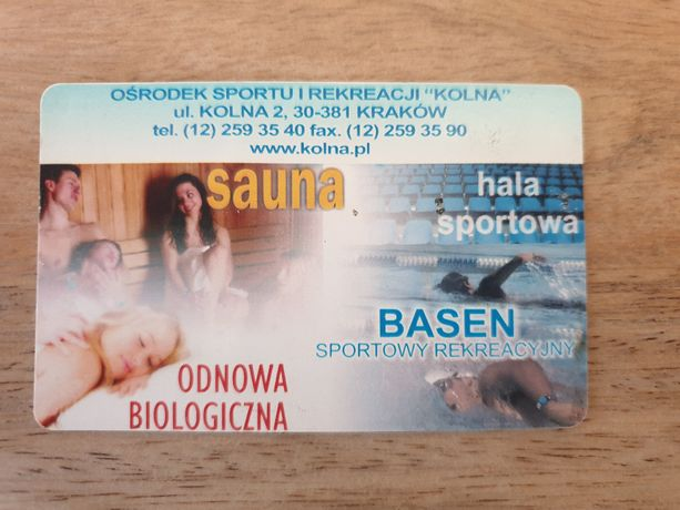 Karnet: Basen, Sauna, Kolna, Kraków