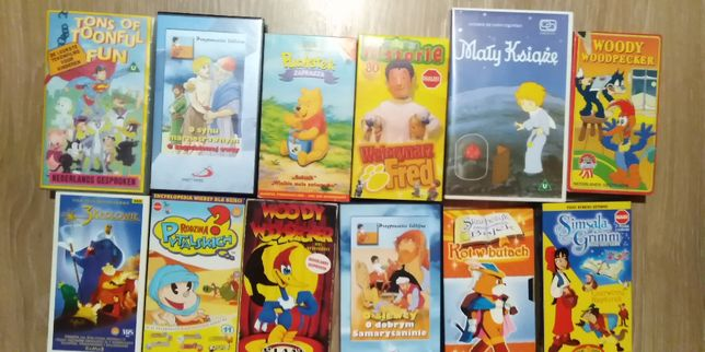 Kasety VHS Różne (Stan Bardzo Dobry)