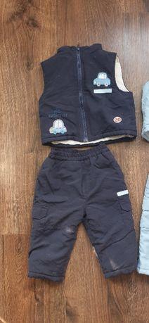 Spodnie + kamizelka ZIMOWA roz. 80
