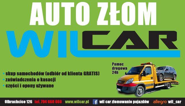 Złomowanie pojazdów-skup samochodów skup aut auto złom