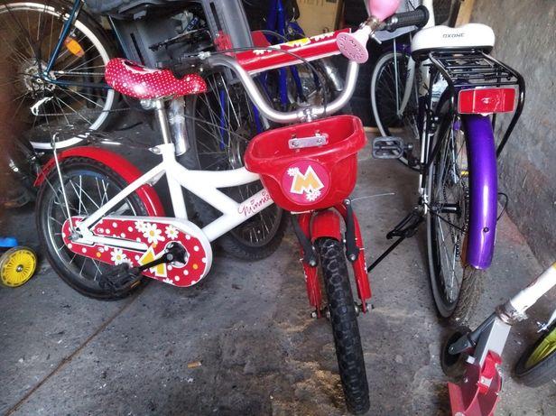 Rower Minnie 16 cali dla dziewczynki