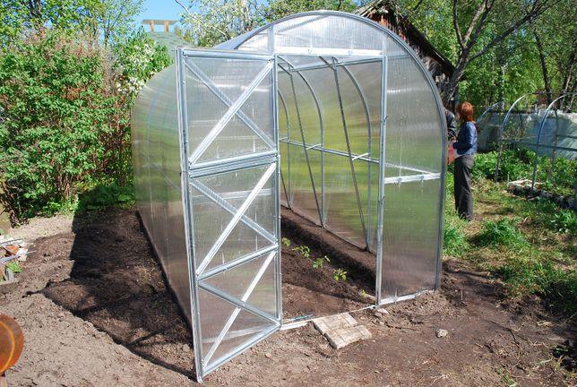 Szklarnia ogrodowa Dwuszka 2m x 8m x 2,2m, stal, poliwęglan
