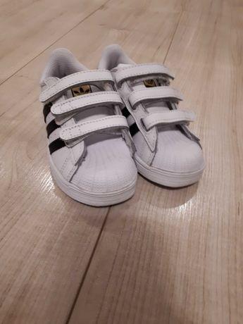 Adidas superstar 25 białe, rzepy