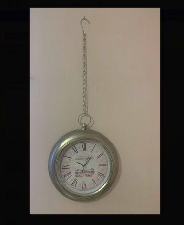 Zegar ścienny, lawendowy, w stylu prowansalskim