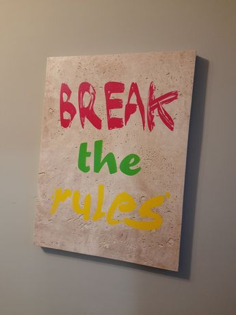 Obraz brek the rules