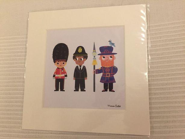 London Character Print de Marion Billet - novo e selado