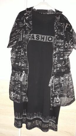 Sukienka z tuniką