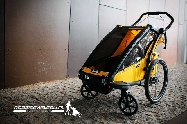 od ręki.. THULE Chariot Sport 1 SpecYellow przyczepka rowerowa biegowa