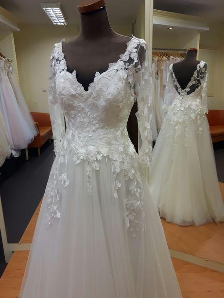 Suknia ślubna 38 40 śmietankowa ecru ivory LUBLIN