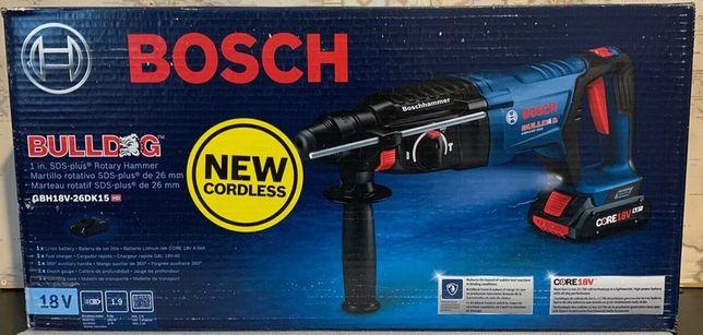 Аккумуляторный перфоратор Bosch GBH18V-26DK15 (18вольт, 4.0 амп)с кейс