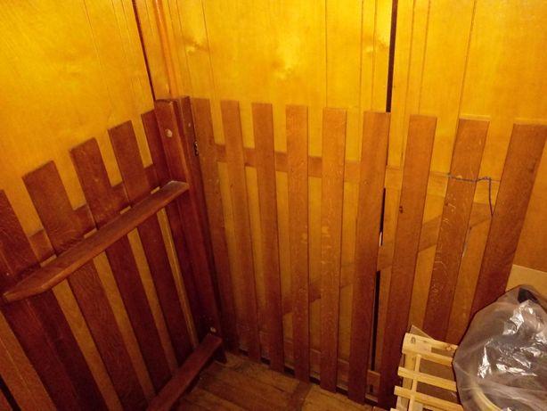 Bramka dębowa na schody 88 cm szerokości