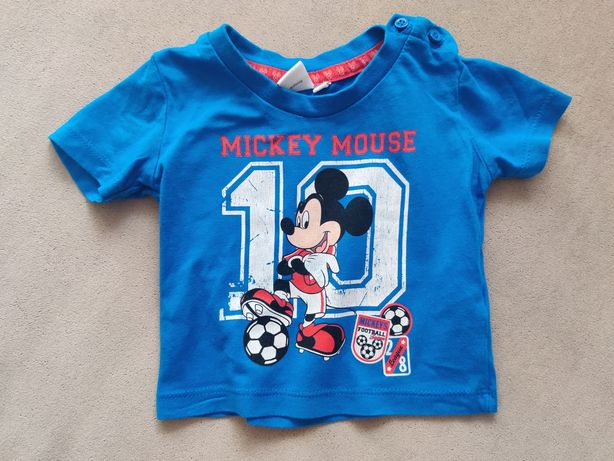 Myszka Mickey - 56-62, koszulka z krótkim rękawem t-shirt Disney Miki