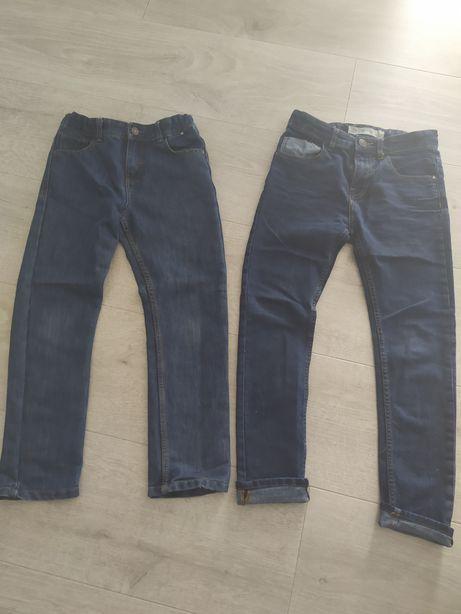 Zestaw jeansów dla chłopca r.140 stan bdb
