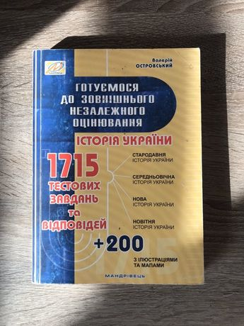 ЗНО історія України В.Островський
