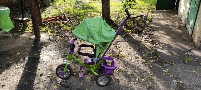 Детский велосипед - коляска трехколесный для мальчика или девочки