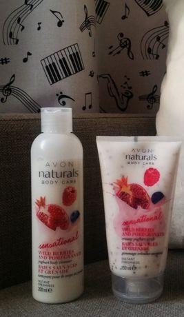 Avon Naturals Jogurtowy Zestaw do pielęgnacji ciała 2w1 Peeling+Żel.