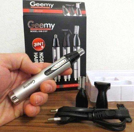 Триммер gm 3107 аккумуляторный для волос, ушей, носа, бороды, стрижка