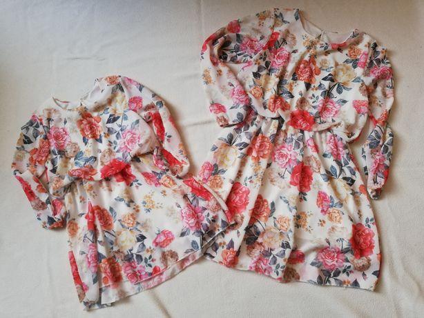 Sprzedam dwie sukienki rozm 98/104 i 140/146