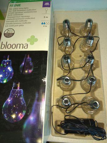 Lampy ogrodowe ip44 wielokolorowe lub białe girlanda na baterie timer