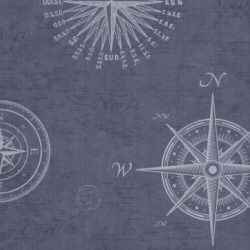 Tapeta na ścianę angielska żeglowanie navy blue, granat